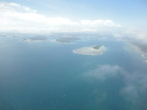 Aerial view of the islands